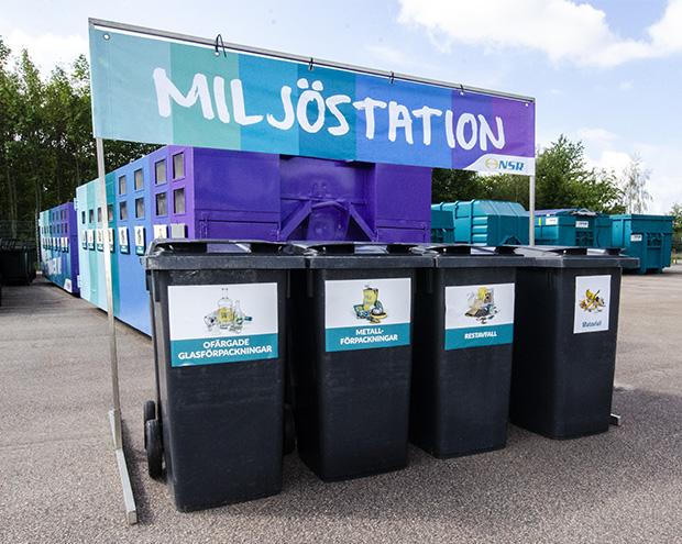 Miljöstation på festivalområde