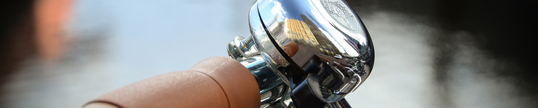 Cykelstyre och ringklocka