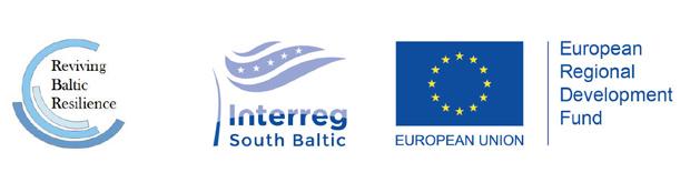 Reviving Baltic Resilience+ Interreg South Baltic logotyp