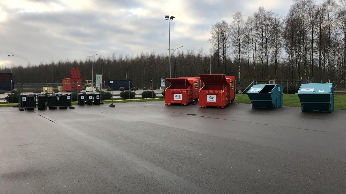 Lämna förpackningar vid Återbruket i Helsingborg