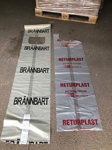 Fel och rätt säck för plastinsamling i Höganäs kommun